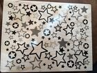 Wood Mounted Rubber Stamp Hero Arts Design Reach For The Stars Pattern