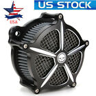 CNC Contrast Cut Speed 7 Air Cleaner Intake Filter fit Harley Dyna Road King US