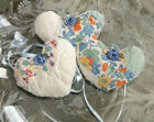 Antique Quilt Little Heart Sachet Hanging Ornaments lavender 3 b