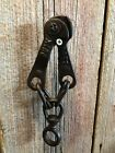 Vtg Antique Metal Wire Pull Cable~Primitive Farm Tool