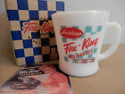 NEW in Box-Fire King JAPAN-D Handle Mug Cup-The 70th anniversary AD LOGO-White