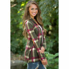 Womens Flannel Plaid Long Sleeve Shirts Casual Loose Cardigan Blouse Jacket Top