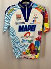 MAPEI Multi Color Sponsor Logos Cycling Jersey Unisex M L made in Italy