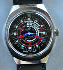 Vintage Fortis Watch W Fascinating Diver Collectors Dial Runs Strong Looks ++