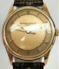 Vintage Mens Vacheron Constantin 18k Rose Gold Screw Back Watch