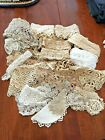Vintage Lace Trim Edging Crochet Tatting Sewing Crafting Pieces Lengths LOT