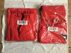 Victorias secret Pink NWT Red PINK DOGS Pull over  Joggers Complete set M