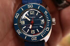 Vintage timex diver style navy blue mechanical water resistant