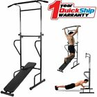 Pull Up Dip Station Home Gym Bar Power Tower Multi Function Stretch Chin Up HT