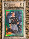 2010 Buster Posey Topps Chrome Green Refractor Rookie BGS 9.5 #62 599