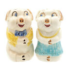Old Vintage Circa 1940 Imperial Porcelain Corp Flirty Pig Salt  Pepper Shakers