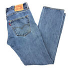 Levis 501 Mens Jeans 32 X 32 Straight Leg Button Fly Mid Rise Original Riveted