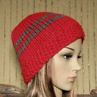 Striped Knitted Beanie Hat, Women's Men's Skull Cap