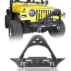 Front Bumper w 2x LED Lights Tubular Stinger For 1987 2006 Jeep Wrangler TJ