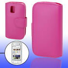 Purple Pink Faux Leather Case Pouch for Nokia N97 Mini