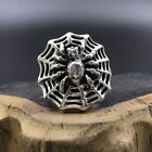 Chinese antique Tibetan silver hand-carved spider ring.    c621