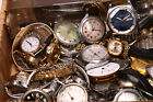 Lot of vintage watches from estate tissot seastar citizen pocket watch parts