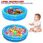 Round Inflatable Kiddie Pool Ball Pool Summer Family Kids Water Pool Play Fun