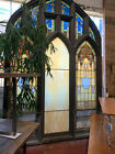 Large STAINED GLASS WINDOW Salvaged 1915 St Agathas Church Pennsyl 11 TALL