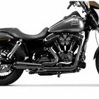 Two Brothers Black w Carbon 2 Into 1 Comp S Exhaust for 2006 2017 Harley Dyna
