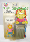 Simpsons Nelson with 5 Wisecracks Action Figure Mattel Approx 9 cm New L