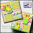 Welcome Spring 2 premade scrapbook pages printed layout paper piecing By Cherry