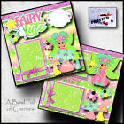 FAIRY CUTE 2 premade scrapbook pages paper piecing girl disney CHERRY 0040