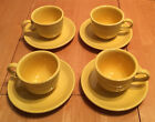 8-Piece Lot Fiestaware Sunflower Yellow Cup & Saucer x4 Sets Coffee or Tea Cups
