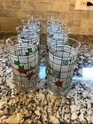 VINTAGE 8 COKE-COLA HOLLY BERRY GLASS TUMBLERS MADE BY LIBBEY MINT FS