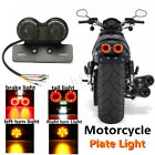 Motorcycle LED Twin Dual Rear Turn Signal Brake Integrated Light + License