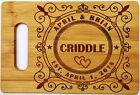 Cutting Board Personalized Engraved Bamboo Wedding Gift Bride and Groom