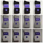 12 PAIR NEUROPATHY CIRCULATORY DIABETIC CREW SOCKS SIZE 9-11 10-13 13-15