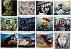US SELLER 10 pieces wall clings native girl Spiderman Wonder Women tapestries