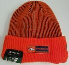 Denver Broncos New Era Orange Sideline Official Tech Knit Hat Beanie
