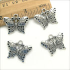 20 50pcs Butterfly Animal Antique Silver Charms Pendants Jewelry DIY 1925mm
