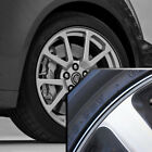 Wheel Bands Silver in Black Pinstripe Edge Trim for Cadillac ELR 13 22 Rims