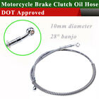 39- 200cm Hydraulic Reinforced Brake Clutch Oil Hose Line Pipe Motorcycle ATV US