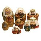 Roman Nesting Dolls Nativity Set 9 Piece Christmas Holiday Decor Set