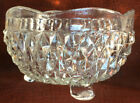 Vtg/Indiana Glass/Diamond Point/Clear/3-Toed/Footed Bowl/Candy/Serving Dish