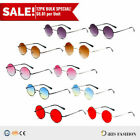 12PC Tinted Lens Round Shades Glasses John Lennon Style Sunglasses Retro Hippie
