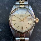 ROLEX Ladies 18K & SS Oyster Perpetual Date 6917 Automatic, c.1974 Swiss LV747