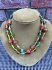 Estate Find Superb Venetian Glass Necklace 19 inches long See all 8 pictures