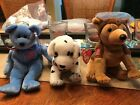 TY Beanie Babies - SET OF 3 (Rescue, Courage & America) (9/11 Charity Beanies)