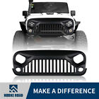 Front Matte Black Gladiator Grill Grille Cover for Jeep Wrangler 2007 2018 JK