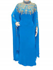 Dubai Wine Moroccan Kaftan Georgette Dress Jilbab clothing Farasha Ms 2019