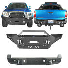 Front Rear Bumper W Led Lights D-rings Matte Black For Toyota Tacoma 05-15