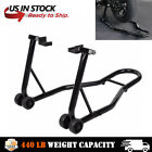 Black Motorcycle Stand Rear Wheel Lift Paddock Hook Swingarm Wide Use Universal