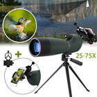 Zoom 25 75X70 Angled Monocular Spotting Scope Waterproof + Tripod Phone Adapter