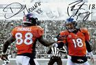Peyton Manning and Demaryius Thomas Autograph Replica Poster