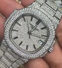 Patek Mens Nautilus Stainless Steel 20ct Diamonds Everywhere Iced Out ! 5711.1A